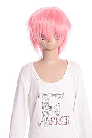 Kawaii-Story W DE 01 DE F15 Rosa Corta 35 cm Bob Cosplay Peluca Wig