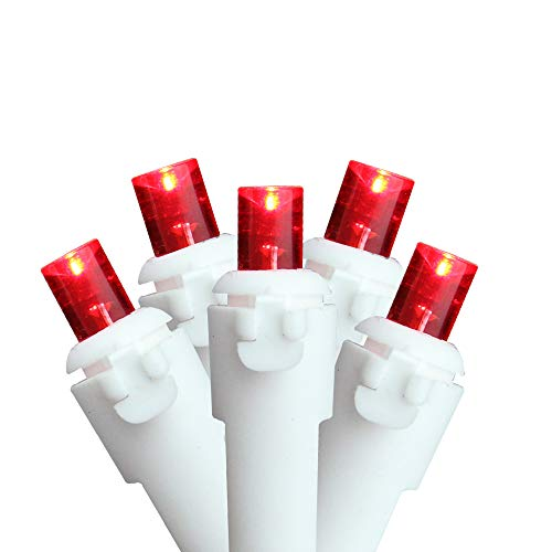 Northlight Set of 50 Red LED Wide Angle Christmas Lights - White Wire