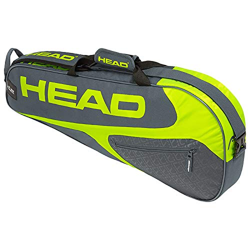 HEAD Elite Pro 3 Racquet Bag (Grey/Yellow)