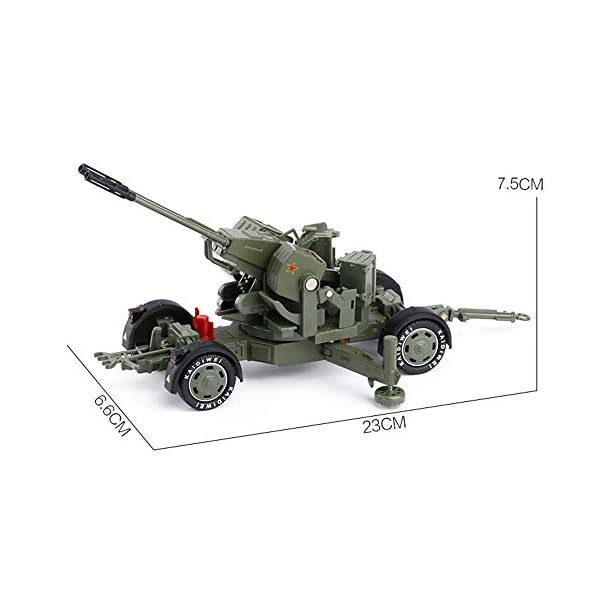 LXWM 1/35 Model Military Toys Anti-Aircraft Weapon System Aircraft Anti-Aircraft Gun Diecast Metal Toy Model for… 3
