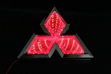 Luces de Coche 3d led Logo Emblema Insignia Adhesivo lámpara para Mitsubishi Lancer Rojo Nuevo: Amazon.es: Coche y moto