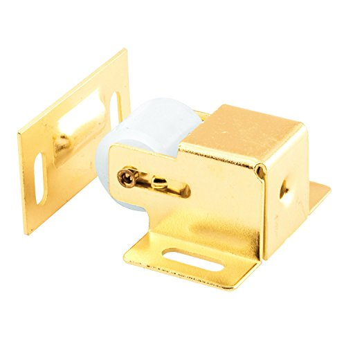 Prime Line Cabinet Handles - Prime-Line MP9047 Closet & Cabinet Roller Catch, 1-3/4 in, Steel Housing & Strike, Brass Plated, 2 Sets, Piece