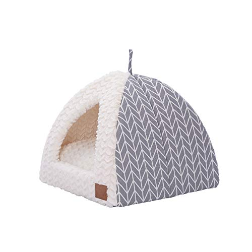 Miss Meow Cat Dog Tent Triangle Pet Bed Removable Cushion Cover Two Way Conversion 15
