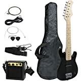 "Smartxchoices 30"" Black Kids Electric Guitar with 5W Amp & Much More Guitar Combo Accessory Kit (Black)"