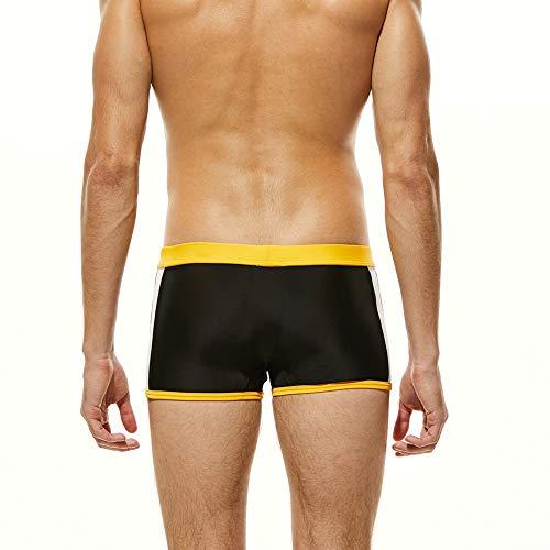 Con Sportivo Nero costume Per Sxshun Da Boxer Uomo Calzoncini Coulisse Bagno Spiaggia tPzx4wx1q
