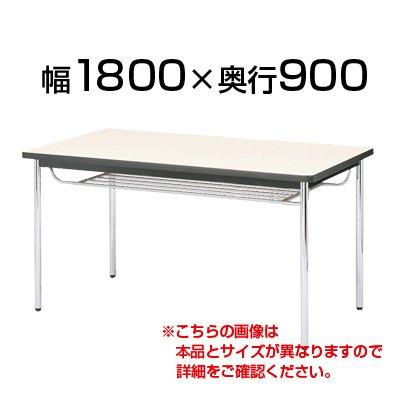 ニシキ工業 会議用テーブル 棚付 ソフトエッジ巻 幅1800×奥行900mm CK-1890SM 角型 チーク B0739QY5XN チーク チーク
