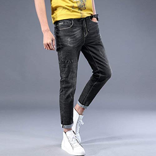 Vintage Jeans Alsbild Di Uomo Slim Pantaloni Basic Da Fit Abbigliamento Regular Stretch Distrutti vggxdpA