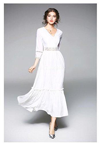 Impresión Vestido Vestido JIALELE Fina 1 Delgado Mujer Cintura Y Fiesta Chiffon Fiesta Con De Bf7d0q