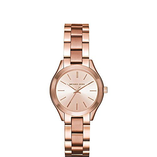 Michael Kors Women's Mini Slim Runway Rose Gold-Tone Watch MK3513