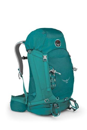 Osprey Women's Kyte 46 Backpack, Teal Blue, Small/Medium, Outdoor Stuffs