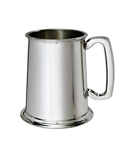 - Wentworth Pewter - 1 Pint Pewter Tankard Customized Engraved Free - Boxed Wedding, Birthday, Retirement, Sports trophy, Dad Gift