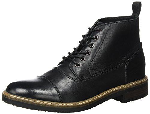 Clarks Herren Blackford Cap Klassische Stiefel Schwarz (Black Leather)