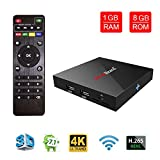 Greatlizard X96 Android 7.1 Smart TV Box 1GB RAM 8GB ROM WiFi 1080p 4K 64 Bit Media TV Set Top Box