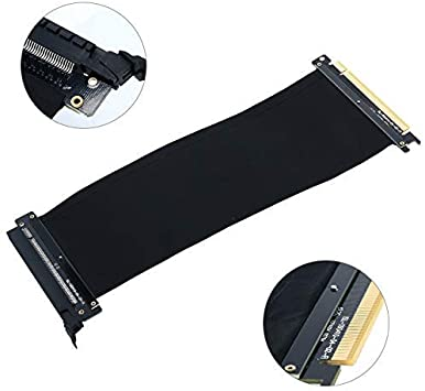 EZDIY-FAB New PCI Express PCIe3.0 16x Flexible Cable Card Extension Port Adapter High Speed Riser Card 25cm
