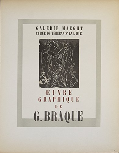 Georges Braque-Galerie Maeght-1959 Mourlot Lithograph - Braque Lithograph