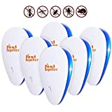 Ultrasonic Pest Repeller, 2019 Upgrated, 6 Pack, Pest Control Ultrasonic Repellent, Electric Pest Control Repellent for Bed Bugs, Cockroach, Rat, Spider, Flea, Ant