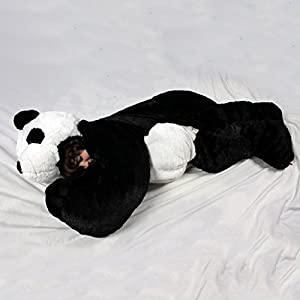 For children up to 54 inches tall. Giant SnooZzoo Panda children's stuffed animal sleeping bag stands 60 inches tall. - 41mA1yXHJbL - For children up to 54 inches tall. The original SnooZzoo Panda children's sleeping bag.