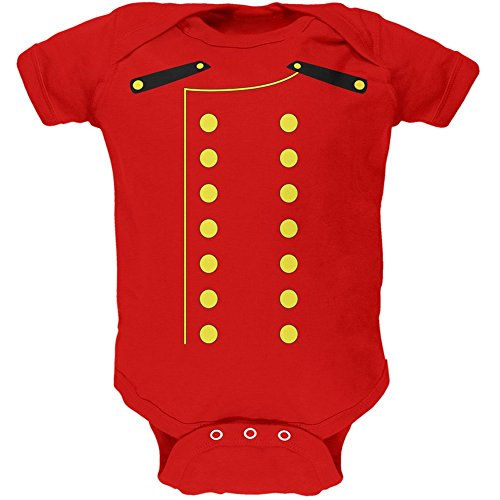 (Old Glory Halloween Hotel Bellhop Costume Red Soft Baby One Piece - 12-18)