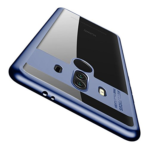 Huawei Mate 10 Pro Case, Vinve Slim Anti-Scratch Shockproof Cover Clear Hard Back Panel + TPU Bumper Protective Case for Huawei Mate 10 Pro(Blue)