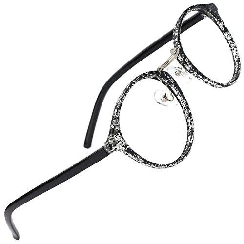 Slocyclub Fashion Round Eyewear Frame Eyeglasses Optical Frame Clear Lens - For Prescription Small Glasses Faces