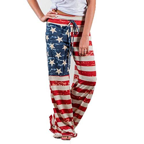 lantusi Women Casual Print Comfy Drawstring Lounge Pants Only $10.50
