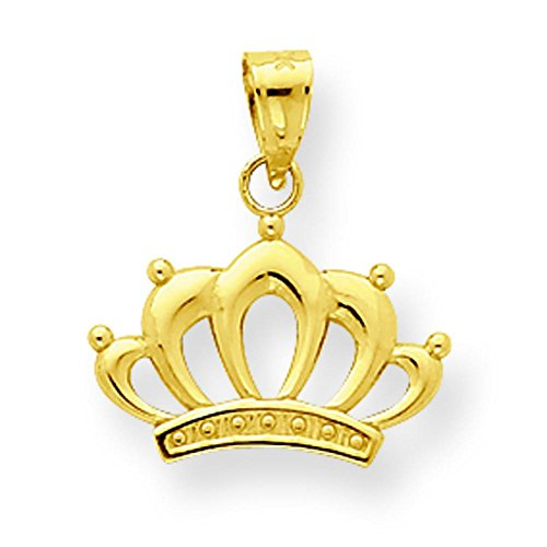 10K Gold Crown Charm Pendant Jewelry