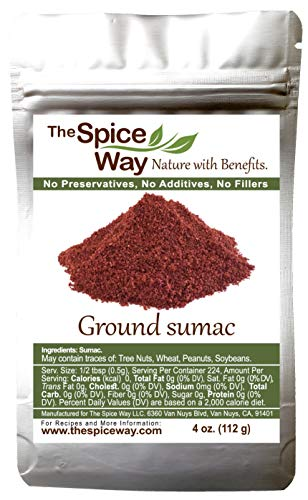 (The Spice Way Pure Sumac - Pure 100% Sumac Spice, No Salt, Freshly Ground 4 oz)