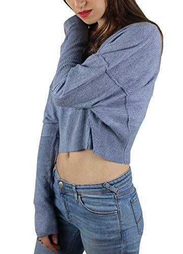 1stamerican Con Invernale Angora Lunghe Donna Maniche Pullover Vestibilita' Maglia Girocollo E Costina Da Fondo A In Corta Maglieria Nero rXZqr1w