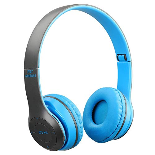 Praxan ZA874 Bluetooth Headphones Reduction Handsfree Wireless Foldable Earphone with Mic Stereo Fm,Memory Card Support Compatible for All Devices (Multi Colour)