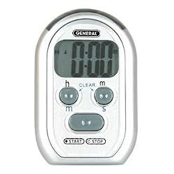 General Tools TI150 Digital Stopwatch/Clock with Flashing/Vibrating Alarm