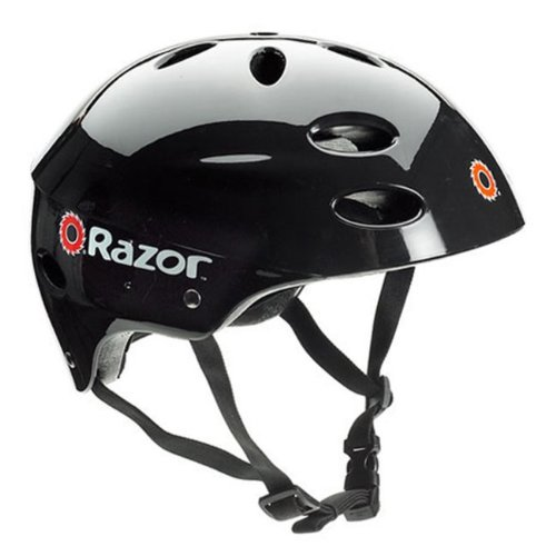 Razor E300 24V Rechargeable Electric Motorized Red Scooter + V17 Youth Helmet by Razor (Image #3)