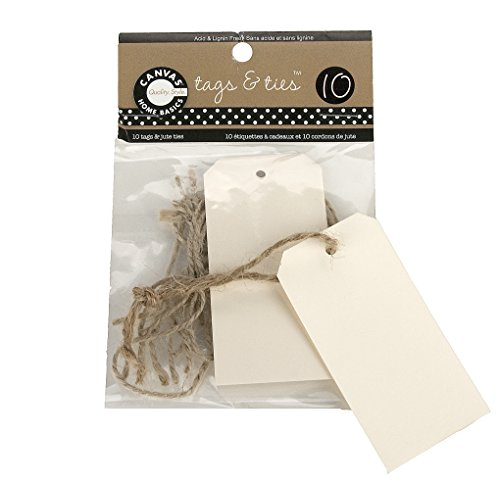 Canvas Corp TAG 1885 Tags and Ties - Skinny - Ivory