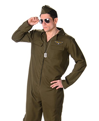 Men's Fighter Pilot - Halloween Costume (M) (Scary Couples Costume)
