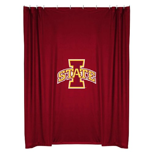 Iowa State Cyclones COMBO Shower Curtain, 4 Pc Towel Set & 1 Window Valance/Drape Set (84 inch Drape Length) - Decorate your Bathroom & SAVE ON BUNDLING! by Sports Coverage