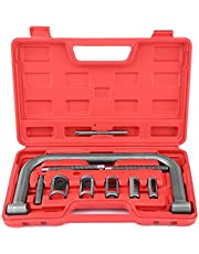 Auto Valve Spring Compressor Clamp Tool Set Kit Universal for Motorcycle, ATV, Car, Small Engine Vehicle Equipment - 10-Pc Set