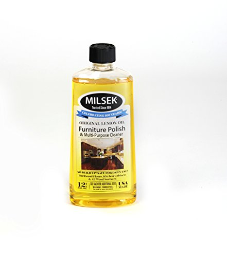 Milsek Furniture Polish and Cleaner with Lemon Oil & Towel 12-Ounce & Cloth - Polish Furniture Cloth