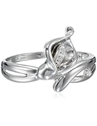 Sterling Silver Calla Lily Diamond-Accent Ring (0.02 cttw, I-J Color, I2-I3 Clarity)