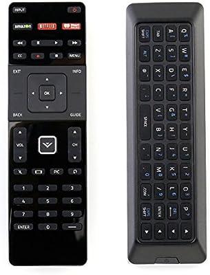 New XRT500 Dual Side QWERTY Keyboard Remote Control fit for 2015 2016 VIZIO Smart TV M80-C3 M322I-B1 M422I-B1 M492I-B2 M502I-B1 M552I-B2 M602I-B3 P502ui-B1E ...