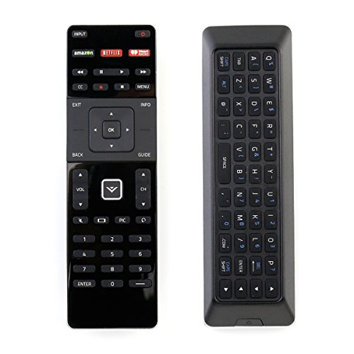 (New XRT500 Dual Side QWERTY Keyboard Remote Control fit for 2015 2016 VIZIO Smart TV M80-C3 M322I-B1 M422I-B1 M492I-B2 M502I-B1 M552I-B2 M602I-B3 P502ui-B1E P602UI-B3 P652UI-B2 P502ui-B1)