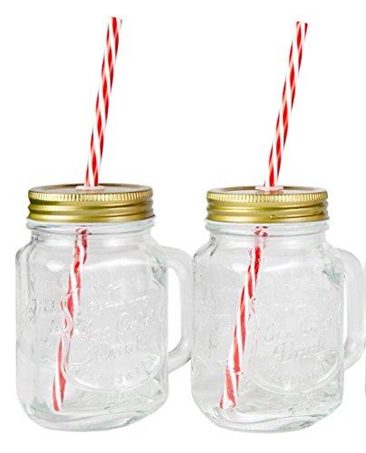 16 oz mason jars mugs - 6
