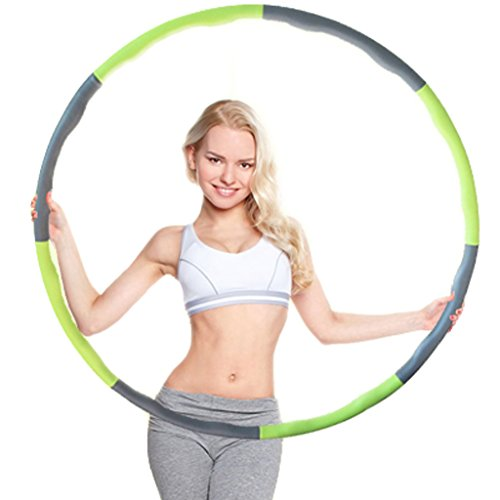 minch-weighted-hula-hoop-perfect-for-dancing-exercise-hot-fitness-workout-and-weight-loss-green-grey