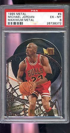d25f59bc60f Amazon.com: 1995-96 Fleer Metal Maximum Metal #4 Die-Cut Michael ...