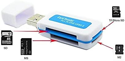 All-in-1 USB 2.0 Multi Memory Card Reader for Micro SD SDHC TF M2 MMC MS PRO Duo (Pack of 2)