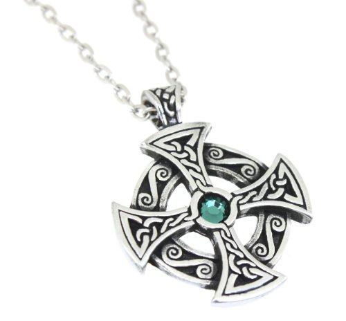 Trilogy Jewelry Pewter Solar Cross with Swarovski Austrian Crystal for Birthday on 24
