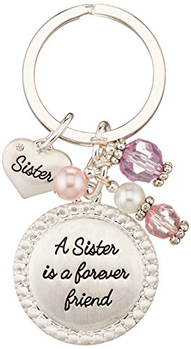 Expressively Yours Sentiment Keychain, Sister, One Size
