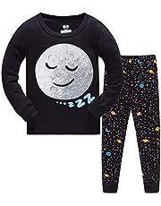 HIKIDS Jongens Pyjama Set Kinderen Dinosaurus Kerstkleding Peuter Nachtkleding Kinderen Katoenen pyjama's 2 stuks Lange mouw Nachtkleding Leeftijd 3 4 5 6 7 8 jaar