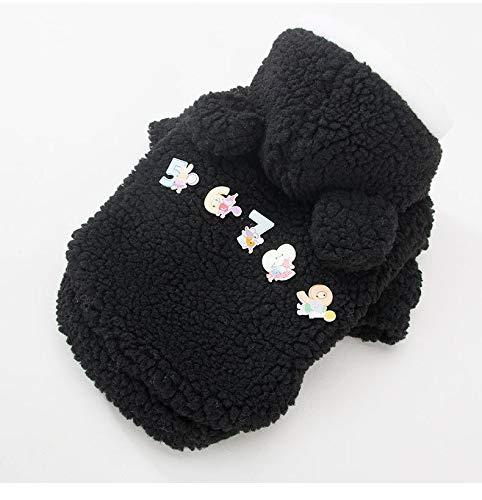 LanTa PetSuppliesMisc Nuovi Vestiti per Cani da Compagnia Abbigliamento Autunno e Inverno Teddy Bear Pet Jacket Clothing (Colore   nero, Dimensione   XL)