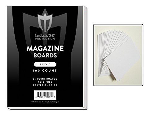 100 White Backing / Sketch Boards by Max Pro (8.5
