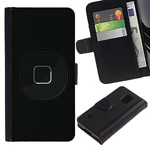 SAMSUNG Galaxy S5 V / i9600 / SM-G900 Modelo colorido cuero carpeta tirón caso cubierta piel Holster Funda protección - Modern Art Button Power Black