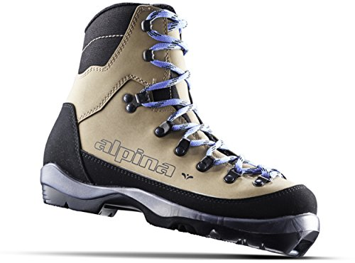 Alpina Sports Women's Montana Eve Backcountry Cross Country Nordic Ski Boots, Euro 36, Brown/Black/Blue